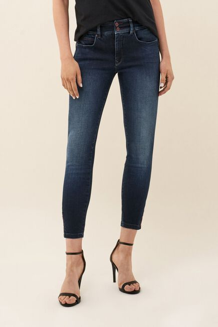 Salsa Jeans - Blue Push In Secret cropped jeans with detail on hem