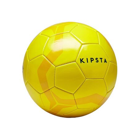 KIPSTA - Size 4 First Kick Football Ages 8 To 12 - Yellow