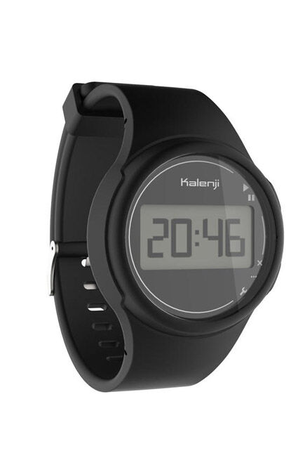 KIPRUN - W100 M Men's Running Stopwatch - Black, Unique Size