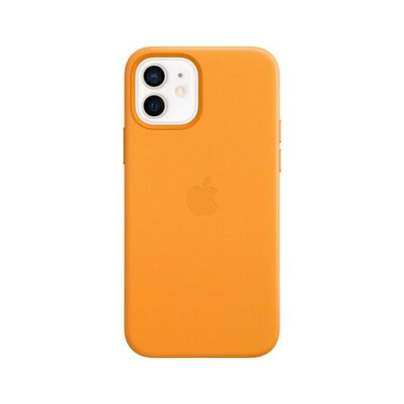 APPLE - Apple Leather Case California Poppy with MagSafe for iPhone 12/12 Pro