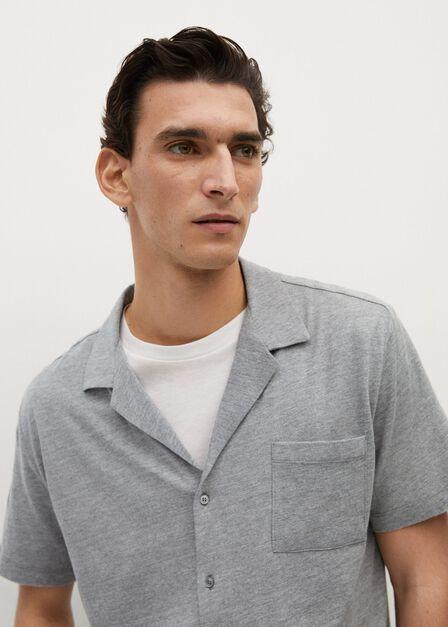 Mango - grey Cotton knit shirt