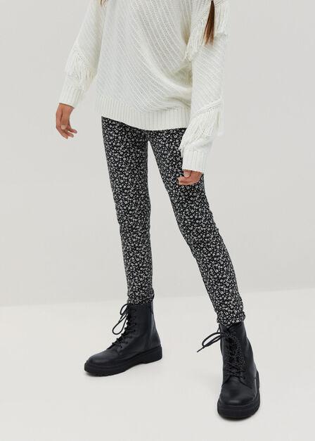 Mango - black Organic cotton printed leggings
