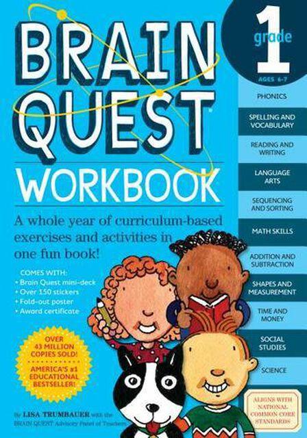 WORKMAN PUBLISHING USA - Brain Quest Workbook Grade 1