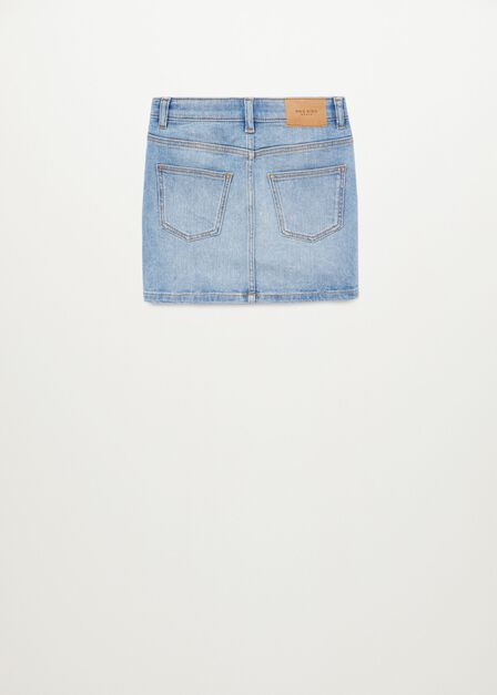 Mango - open blue Light denim skirt