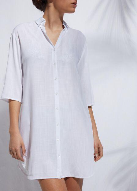 Calzedonia - White Oversized Shirt Dress, Women