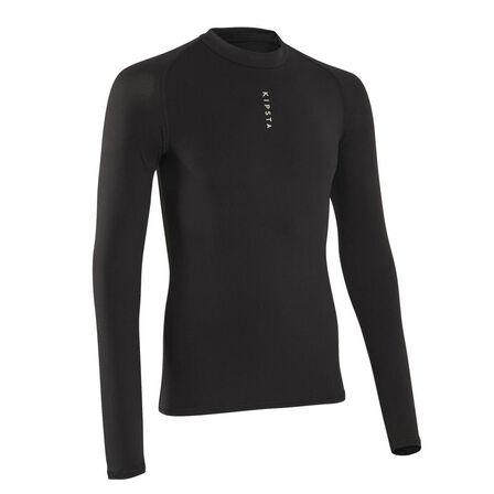 KIPSTA - M Men's Football Long-Sleeved Base Layer Top Keepdry 100 - Black