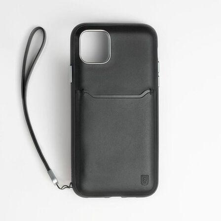 BODYGUARDZ - BodyGuardz Accent Wallet Case Black for iPhone 11 Pro