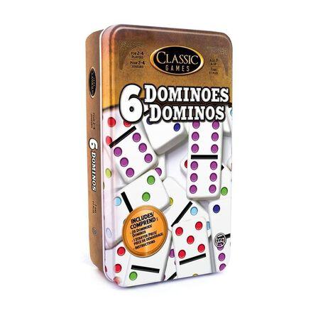 TCG - TCG Double 6 Dominoes In A Tin