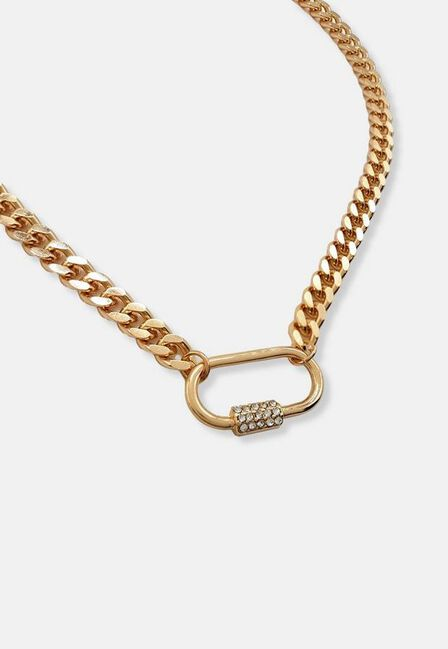 Missguided - Gold Look Carabiner Chain Necklace