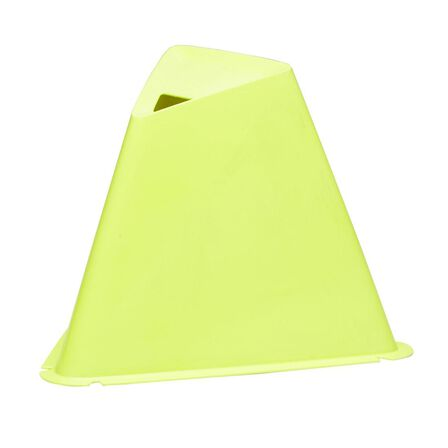 KIPSTA - Unique Size  15cm Training Cones 6-Pack Essential, Fluo Lime Yellow