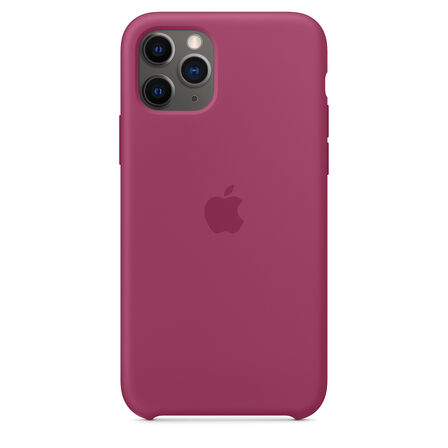 APPLE - Apple Silicone Case Pomegranate for iPhone 11 Pro