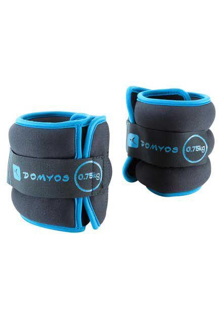 NYAMBA - 0.2 Kg  Toning Adjustable Wrist and Ankle Soft Weights Twin-Pack - 0.75 kg, Blue