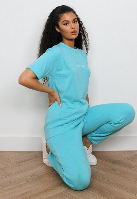 Missguided - Bright Blue Missguided Oversized T Shirt