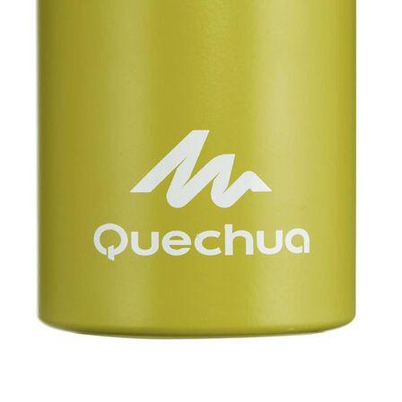 QUECHUA - 500 aluminium hiking flask with quick-open cap - 1 litre, green