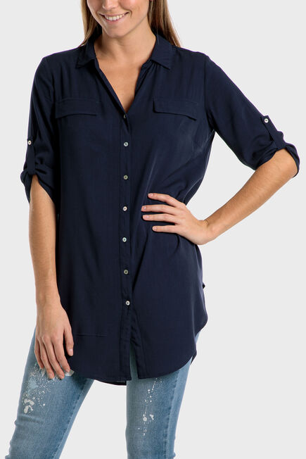 Punt Roma - Long blue shirt