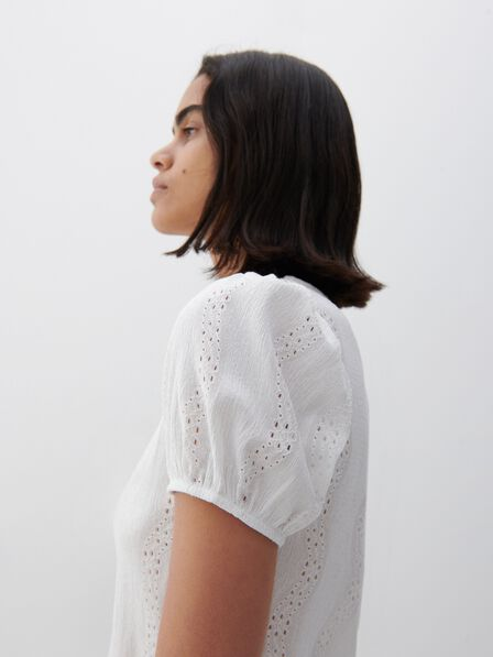 Reserved - Broderie anglaise blouse - White
