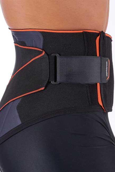 TARMAK - Mid 500 Unisex supportive lumbar brace - black