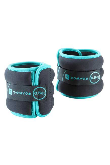 DOMYOS - Tone softbell adjustable wrist and ankle weights twin-pack 0.5 kg