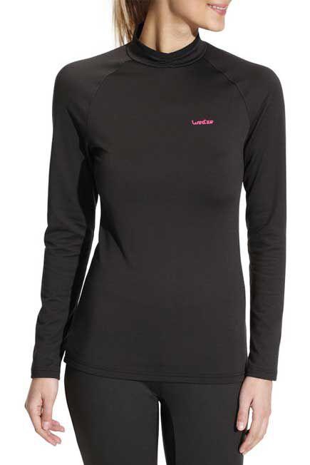 WEDZE - Women's Base Layer Ski Top Freshwarm - Black, S