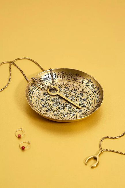 Urban Outfitters - Gold Medallion Etched Trinket Tray
