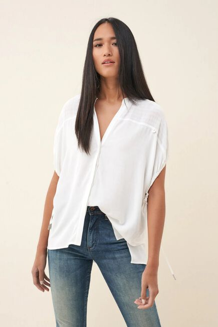 Salsa Jeans - White Sweater with drawstring