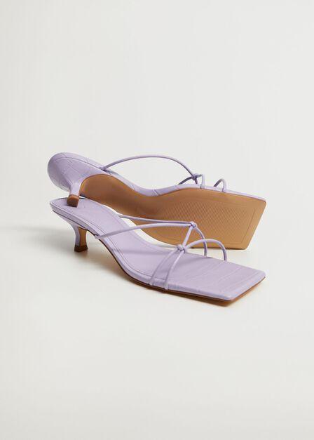 Mango - Lt-pastel purple Knots heel sandals