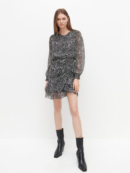 Reserved - Patterned mini dress - Multicolor