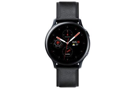 SAMSUNG - Samsung Galaxy Watch Active 2 40mm Stainless Steel Black