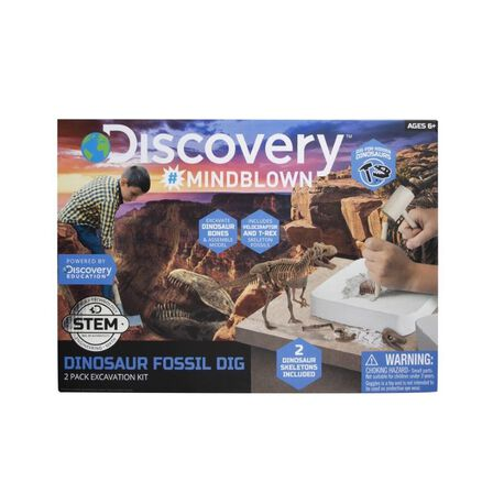 DISCOVERY - Discovery Mindblown Dinosaur Excavation Kit T-Rex & Velociraptor