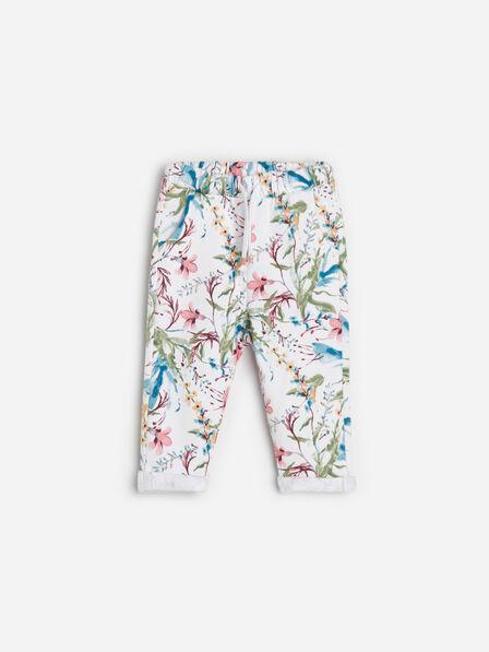 Reserved - Cream Floral Sweatpants, Kids Girl Girl