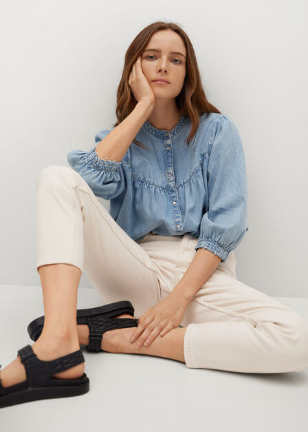 Mango - natural white Mom-fit jeans, Women