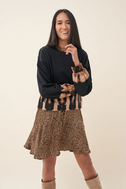 Salsa Jeans - Black Tie-dye sweater with shimmer