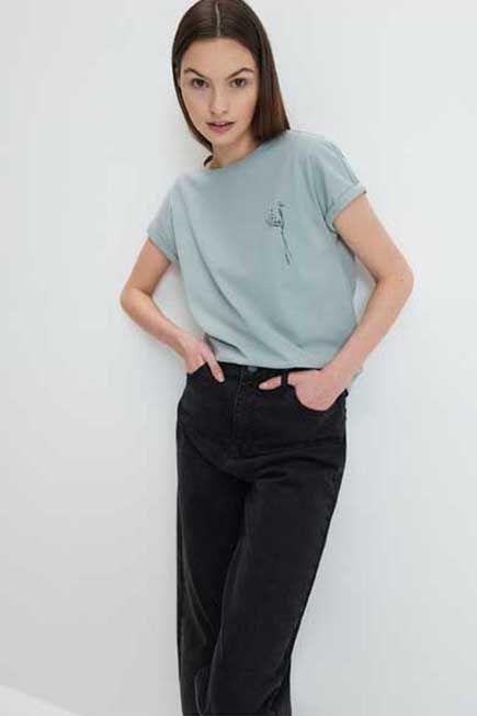 Mohito -  Eco Aware Cotton T-Shirt - Green
