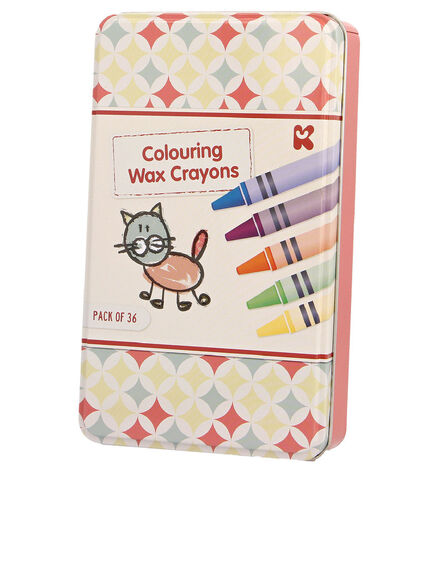 KEYCRAFT - Keycraft Colouring Crayons Set In Tin