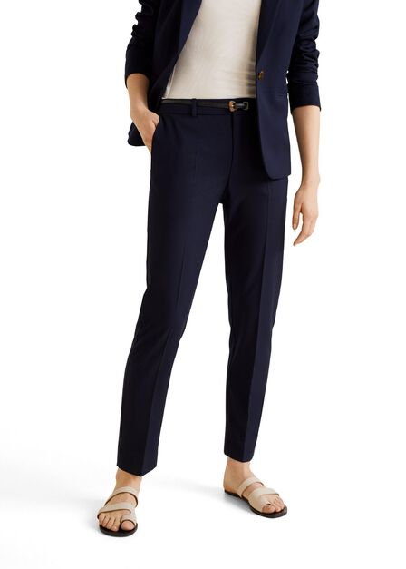 Mango - navy Belt suit trousers