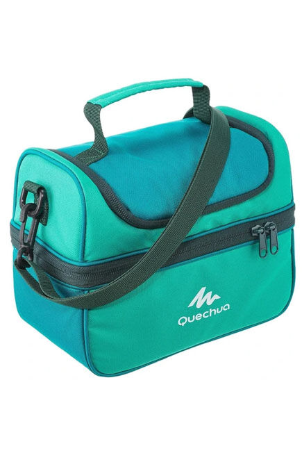 QUECHUA - Mh500 4.4 l hiking lunch box ice box (with 2 food boxes) - green, Unique Size