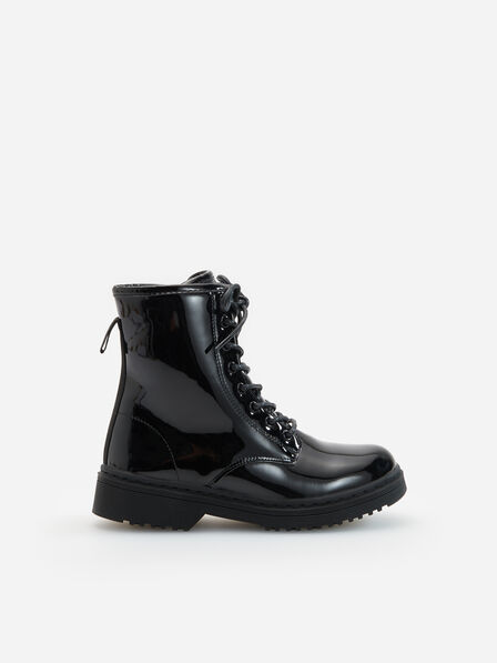 Reserved - Black Patent-leather ankle boots