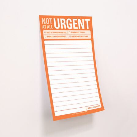 KNOCK KNOCK - Knock Knock Great Big Stickies Not At All Urgent Notebook