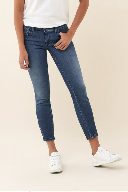Salsa Jeans - Blue Push Up Wonder capri jeans with colour studs