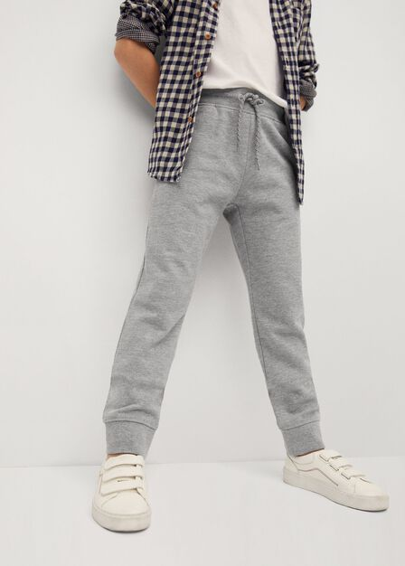 Mango - medium grey Cord organic cotton jogger