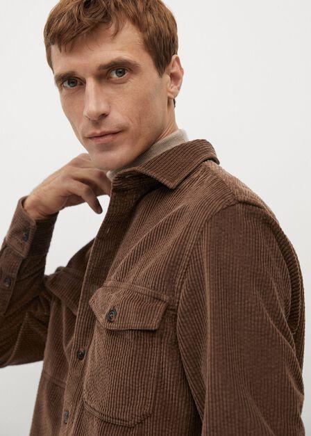 Mango - brown Regular fit corduroy overshirt