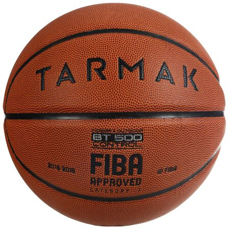 TARMAK - US 7  Boys'/Men's Size 7 (from 13 Years) Basketball BT500 - /Fiba., Dark Brown
