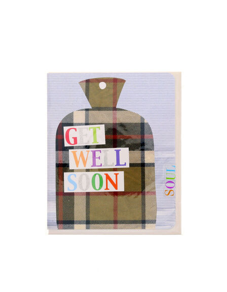 SOUL UK - Get Well Soon Hot Water Bottle Soulissimo Card