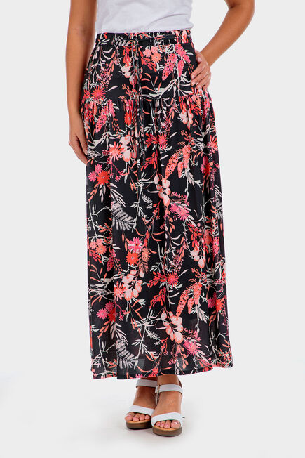 Punt Roma - Long printed skirt