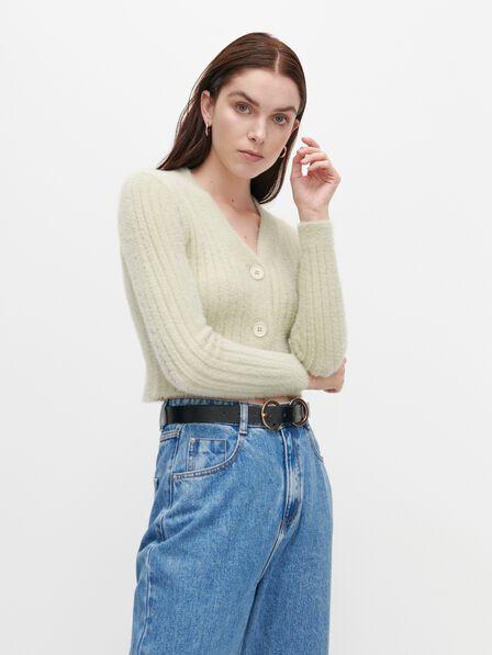Reserved - Short cardigan - Green