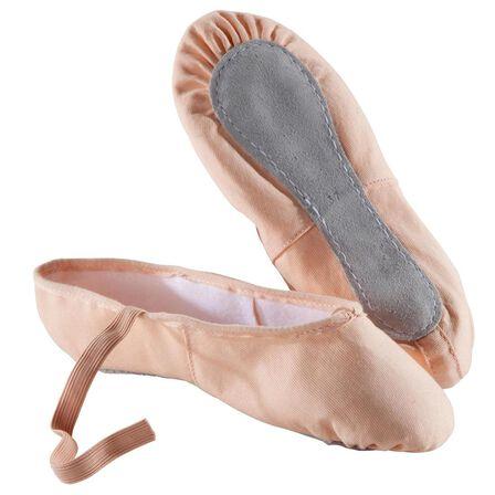 DOMYOS - EU 30  Woven Demi-Pointe Ballet Shoes - Salmon, Light Pink