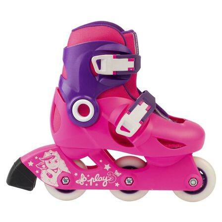 OXELO - Play 3 kids' skates - pink/purple