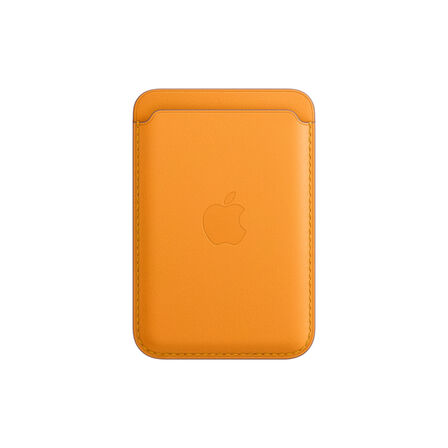 APPLE - Apple Leather Wallet California Poppy with MagSafe for iPhone