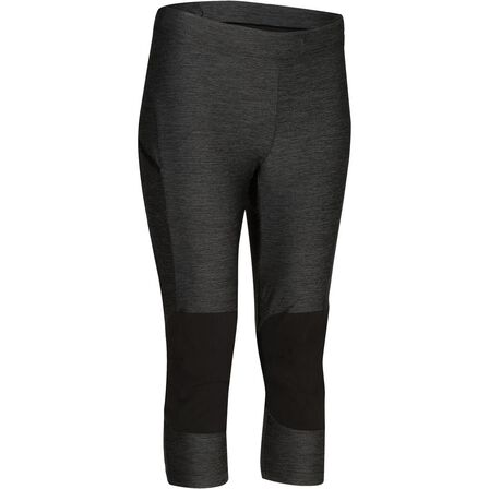 QUECHUA - Women's fast hiking leggings fh500 helium mottled grey, 2XS