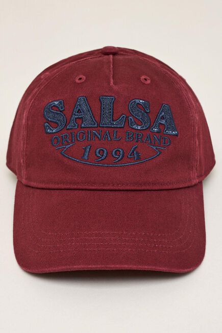 Salsa Jeans - Red Branded cap with denim detail